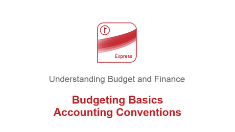 Budgeting Basics: Accounting Conventions