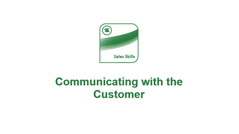 The Bottom Line: Communicating with the Customer