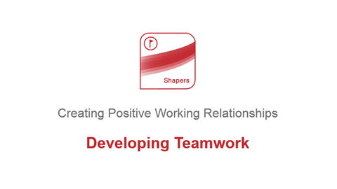 Creating Positive Working Relationships: Developing Teamwork