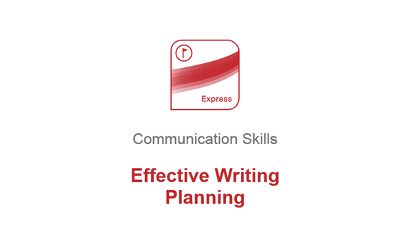 Effective Writing: Planning
