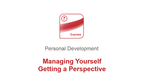 Managing Yourself: Getting a Perspective