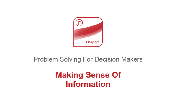 Problem Solving for Decision Makers: Making Sense of Information