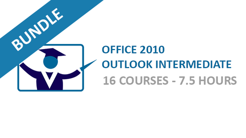 Office 2010 Outlook Intermediate: Courses Bundle