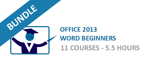 Office 2013 Word Beginners: Courses Bundle