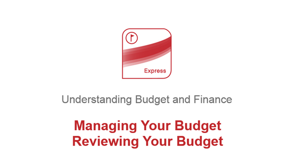 Managing Your Budget: Reviewing Your Budget