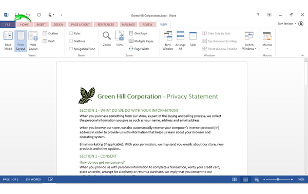 Office 2013 Word Beginners: Screen Components