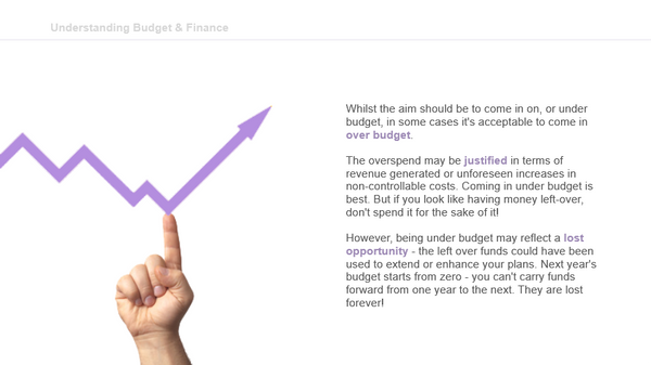 Managing Your Budget: Taking Corrective Action