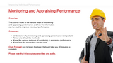 Improving Individual Performance: Monitoring and Appraising Performance