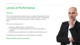 Developing Performance: Levels of Performance
