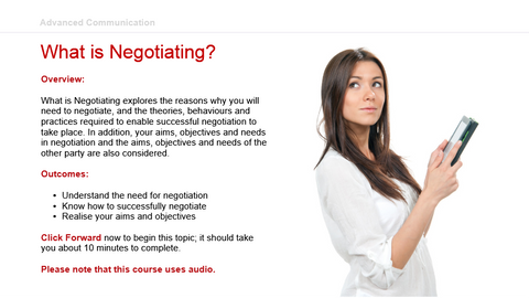Advanced Communication: What is Negotiating?
