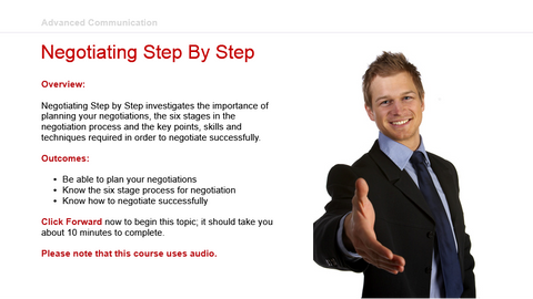 Advanced Communication: Negotiating Step By Step