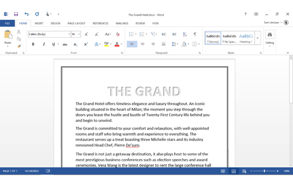 Office 2013 Word Beginners: Page Layout