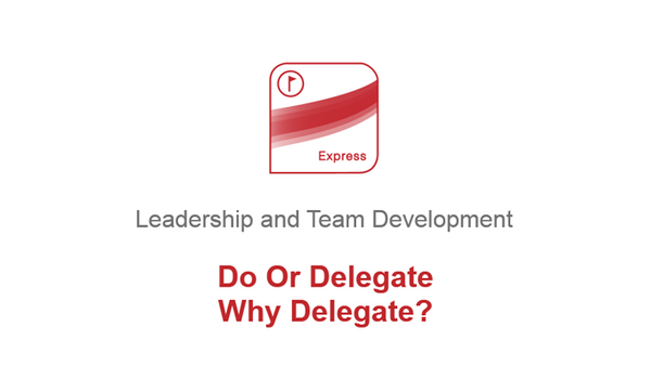 Do Or Delegate: Why Delegate