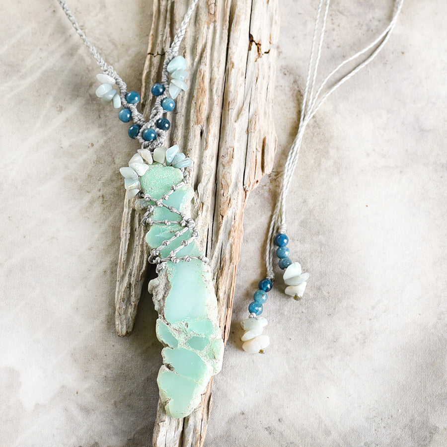 'Scenic Path' ~ crystal healing amulet with Chrysoprase
