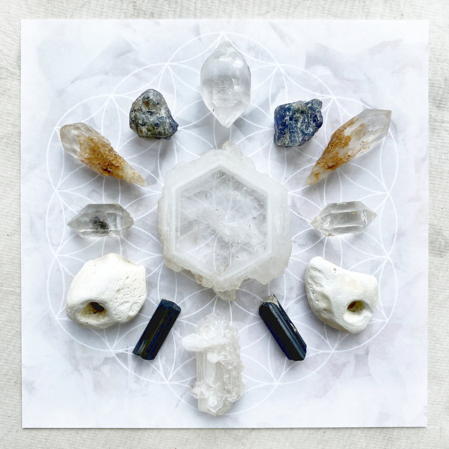 'Portal to Transformation' ~ crystal grid set