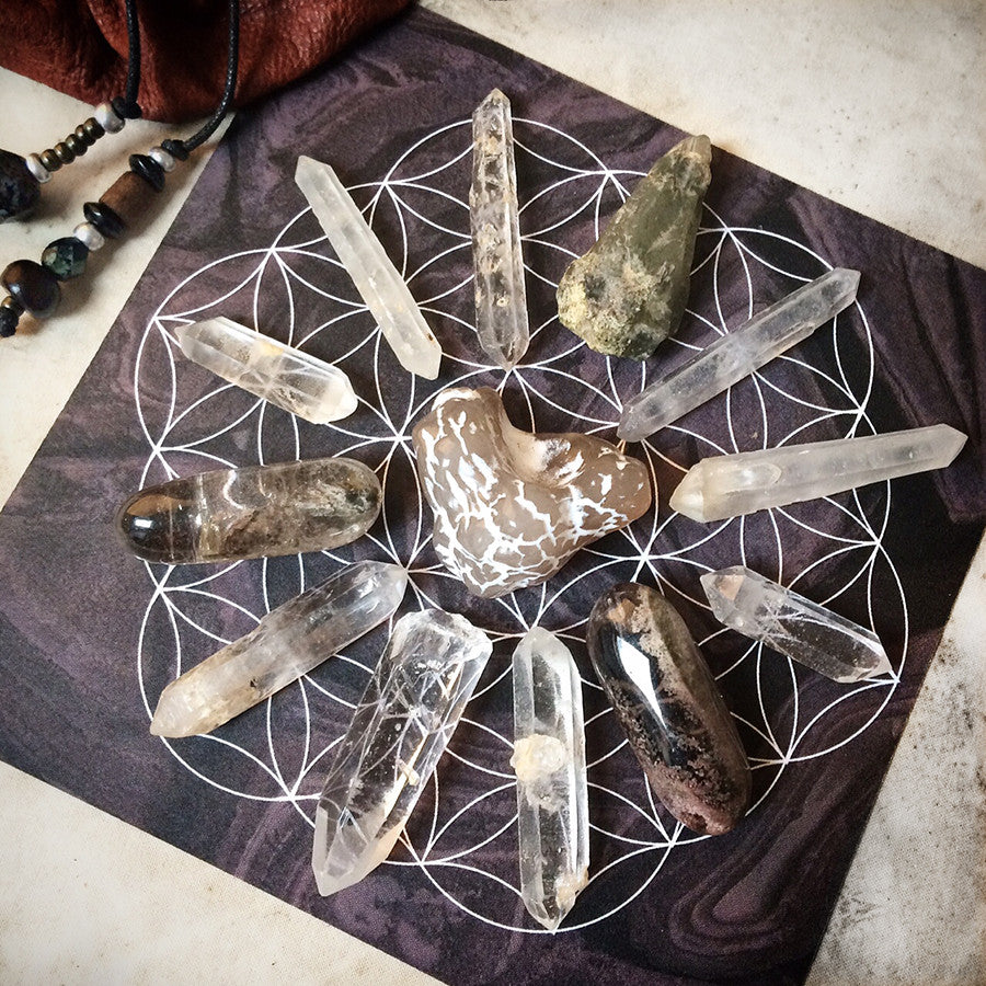 'Life Path' ~ crystal grid set