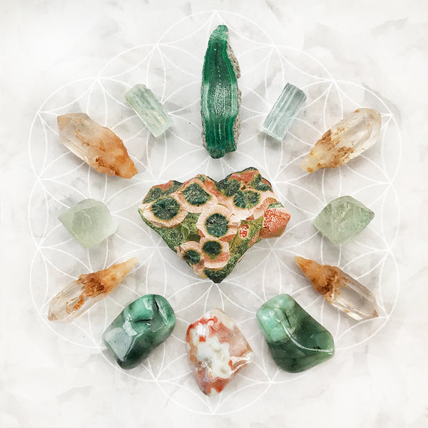 'Emotional Healing' ~ crystal grid set