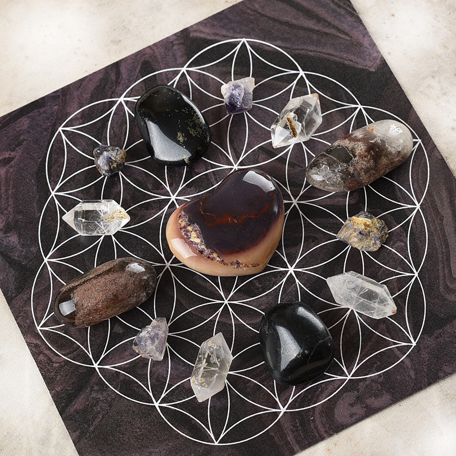 'Balance & Intuition' ~ crystal grid set
