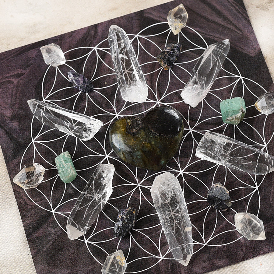 'Healing' ~ crystal grid set