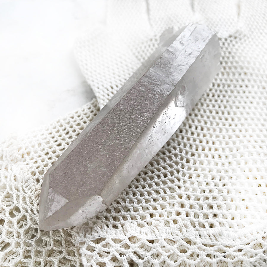 Frosted Quartz crystal point