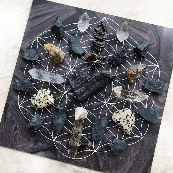 'Protection & Shielding' ~ crystal grid set