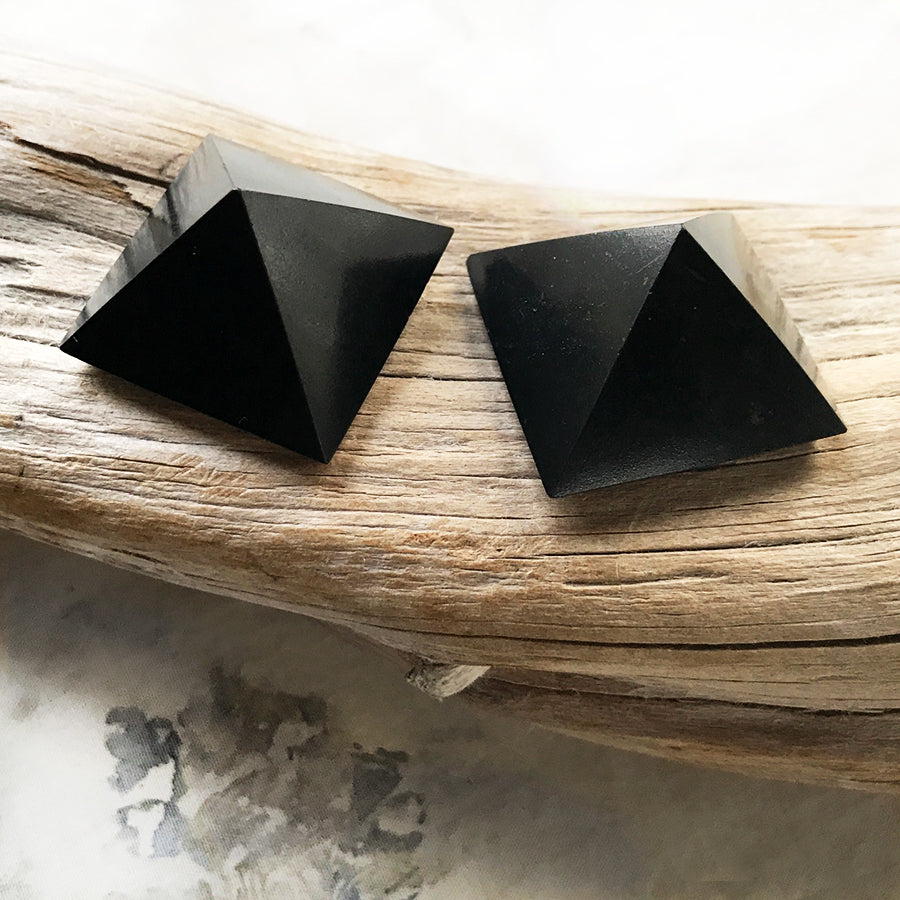 Pair of small Shungite pyramids
