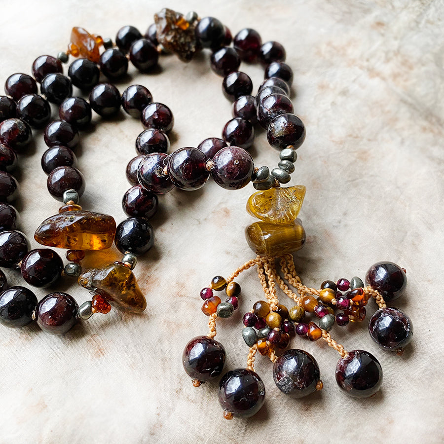 'Manifestation mala' necklace