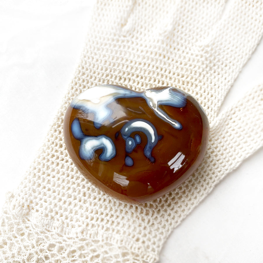 Fire Agate polished heart