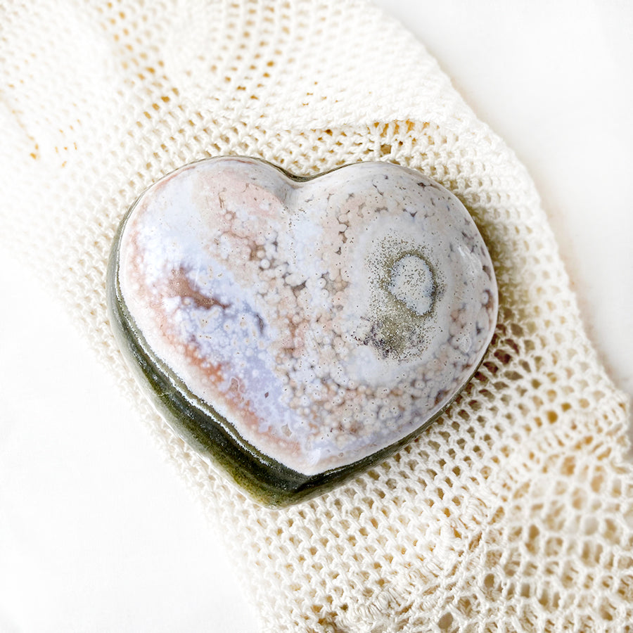 Ocean Jasper polished heart