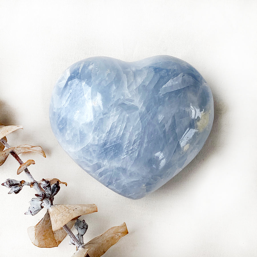 Celestite polished heart