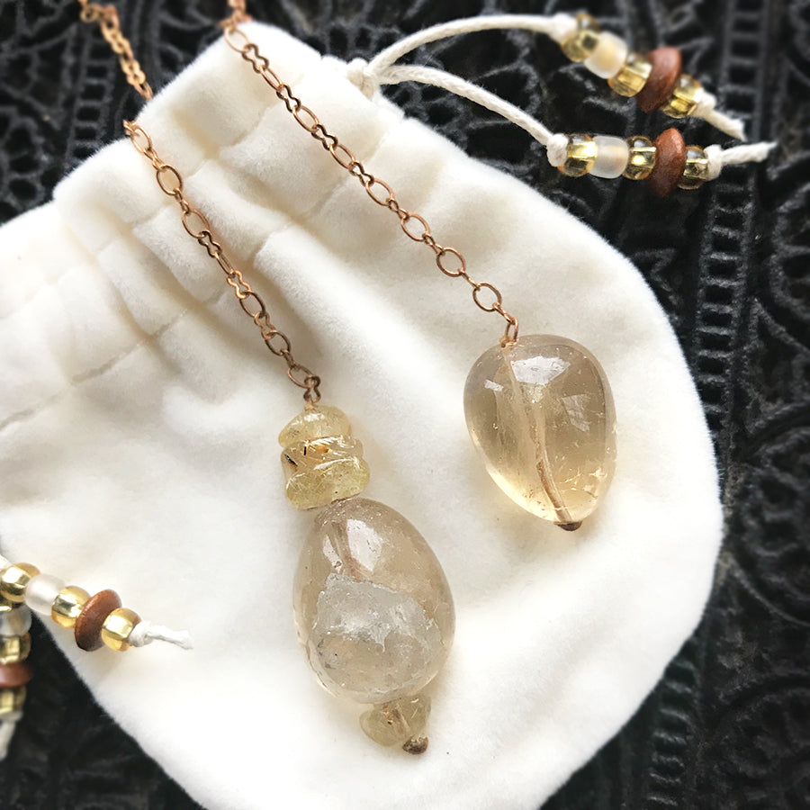 Limited edition crystal pendulum ~ with Citrine