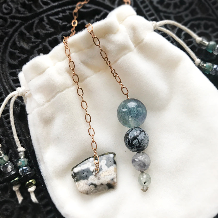 One-of-a-kind crystal pendulum ~ with Fluorite
