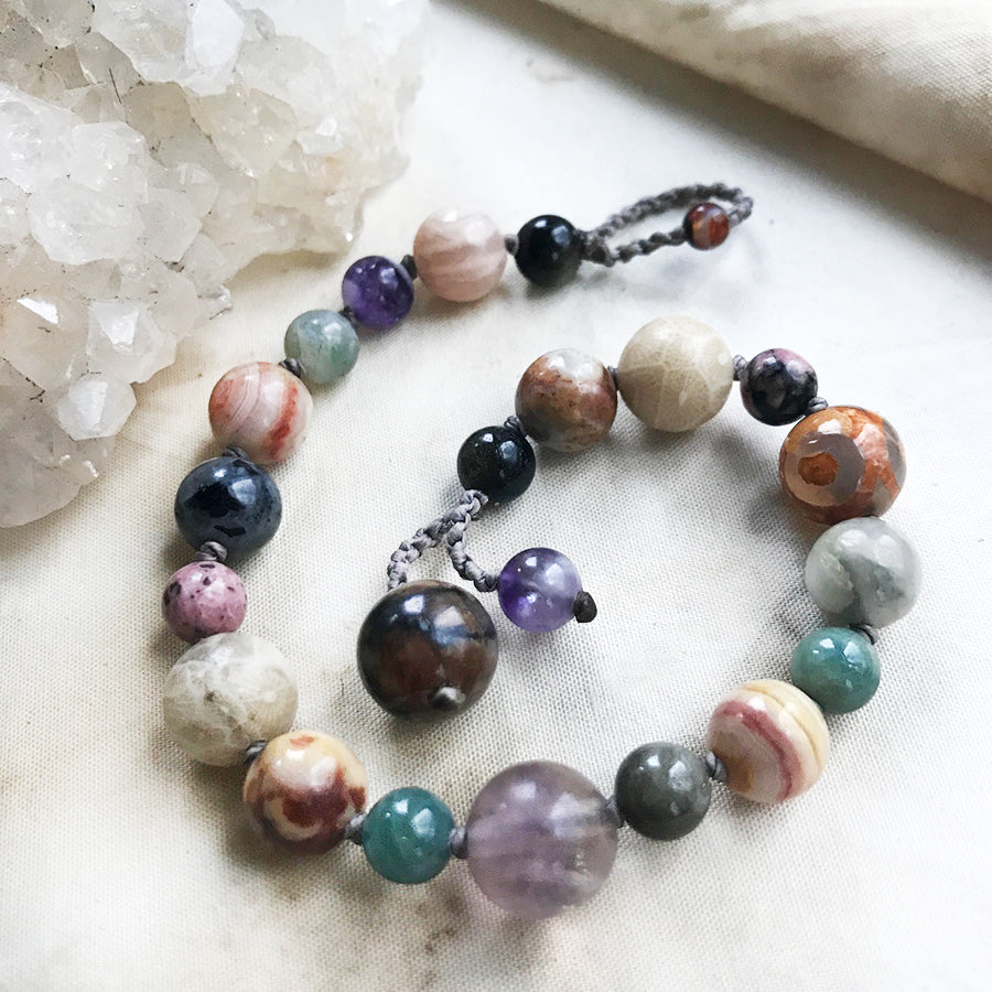 "Crystal healing bracelet ~ for up to 6.5"" wrist"