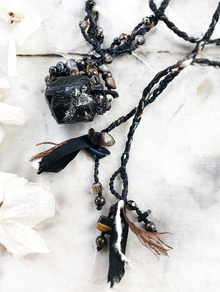 Crystal healing talisman with Black Tourmaline