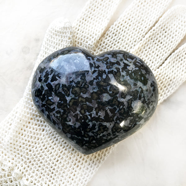 Large polished crystal heart ~ Mystic Merlinite