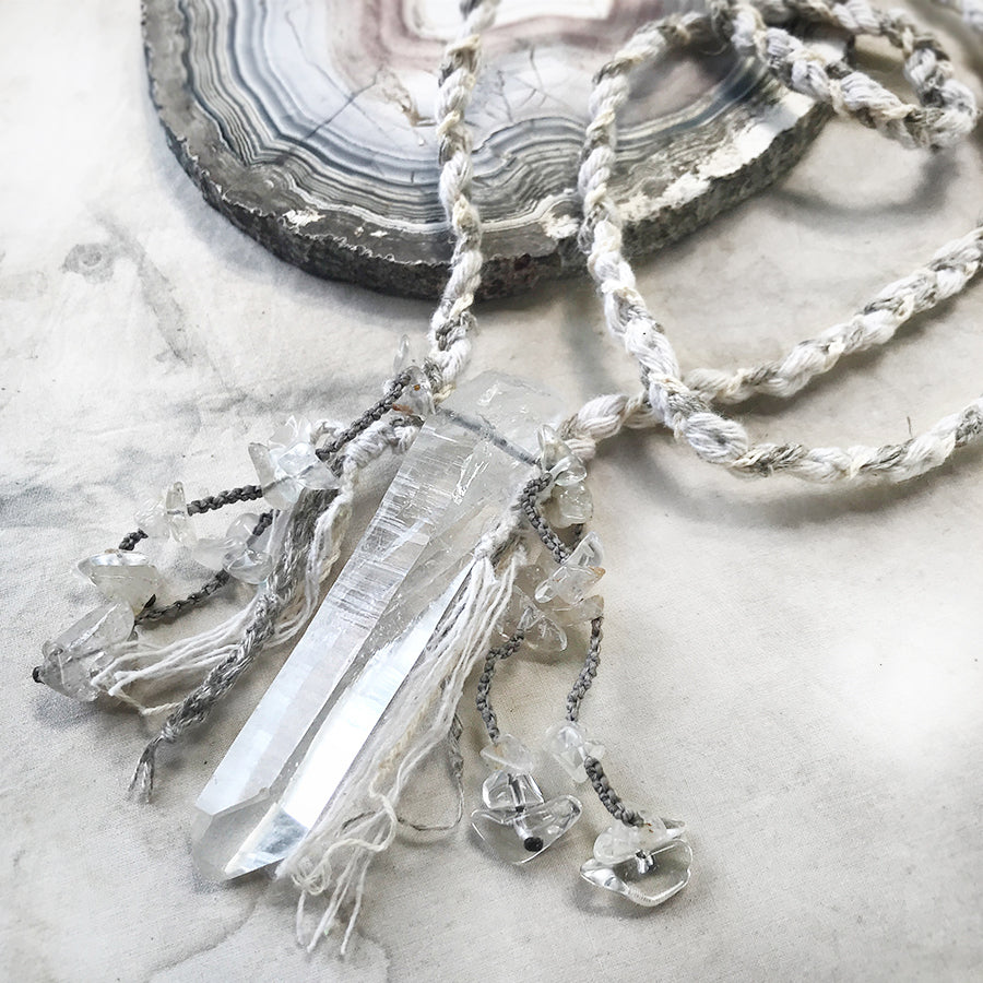 Lightning Struck Quartz crystal healing amulet