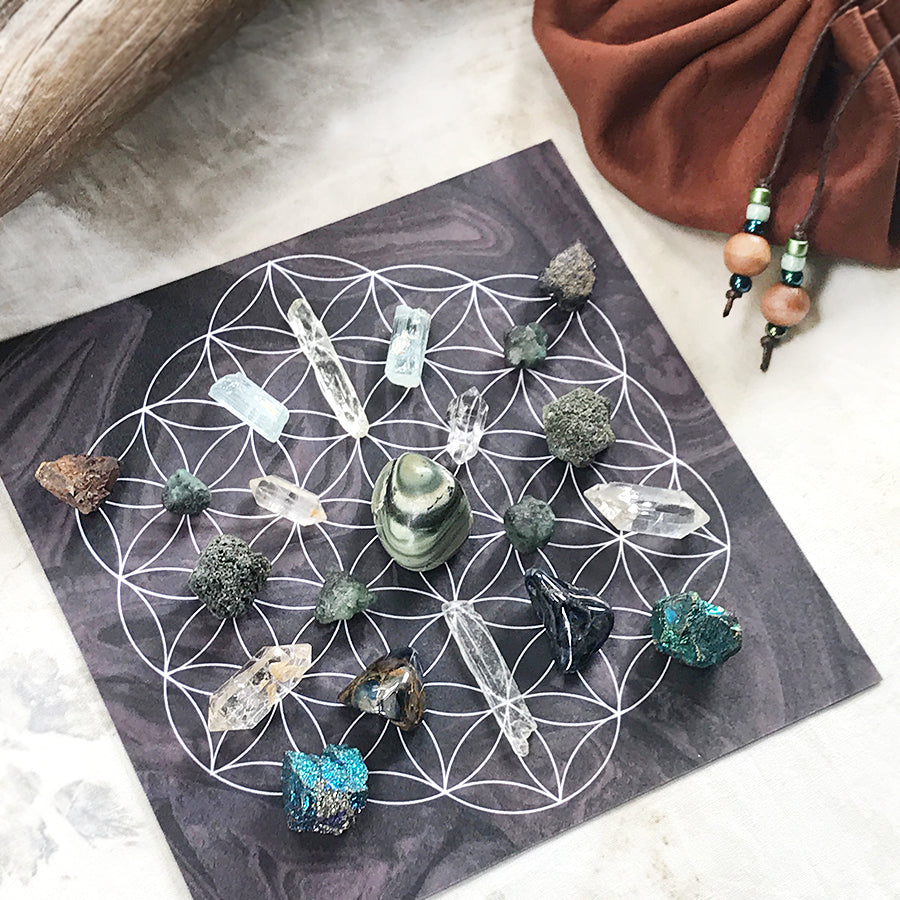 'Healer's Strength' ~ crystal grid set