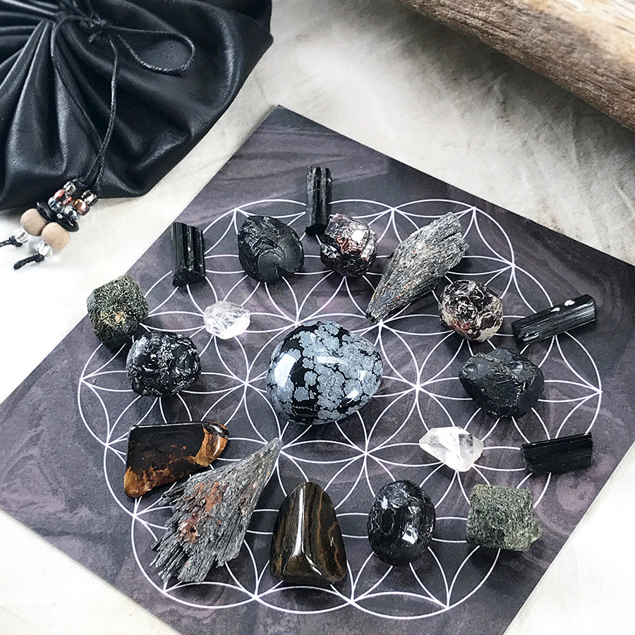 'Shielding & Courage' ~ crystal grid set