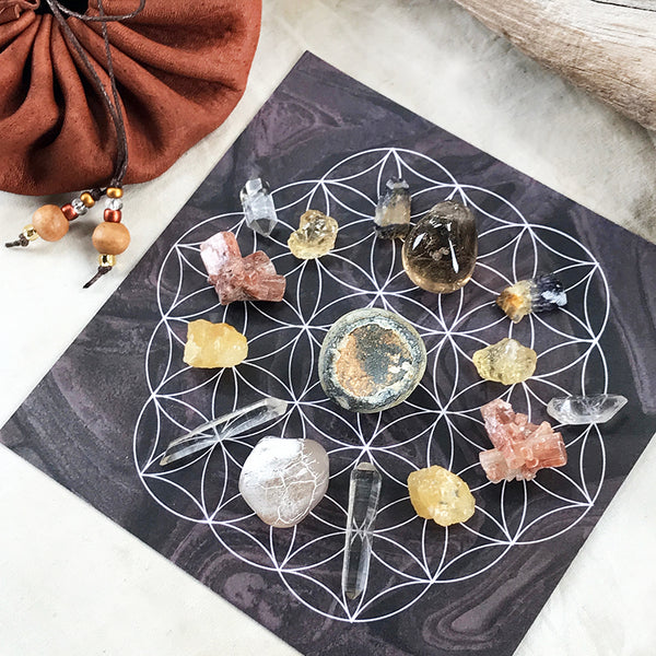 'Confidence & Action' ~ crystal grid set