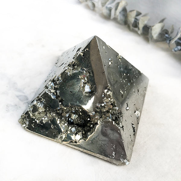 Pyrite pyramid (heavy)