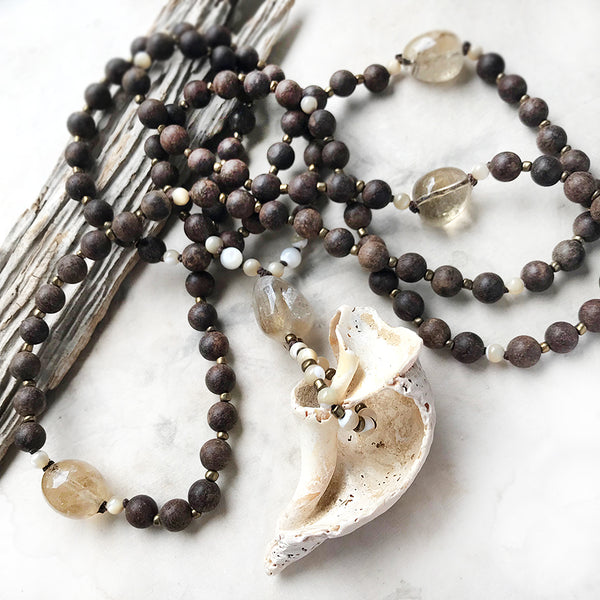 Agarwood meditation mala