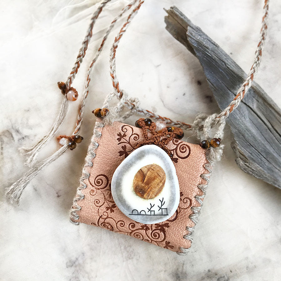 'Wisdom Keeper' wearable miniature book (necklace)