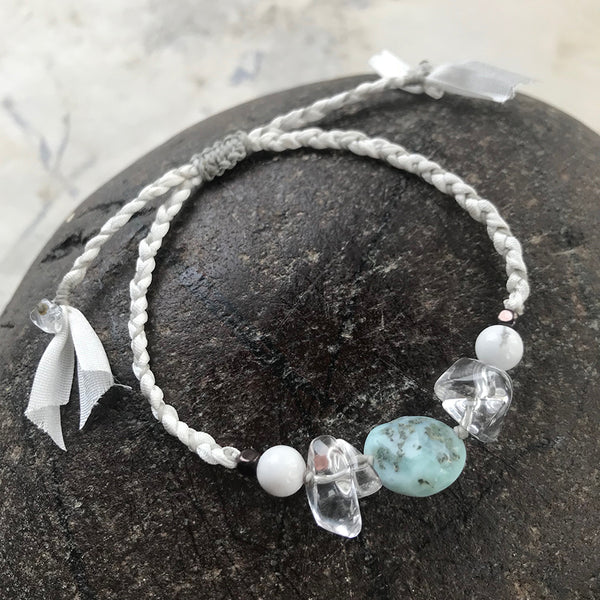 Crystal healing bracelet ~ adjustable to all wrist sizes