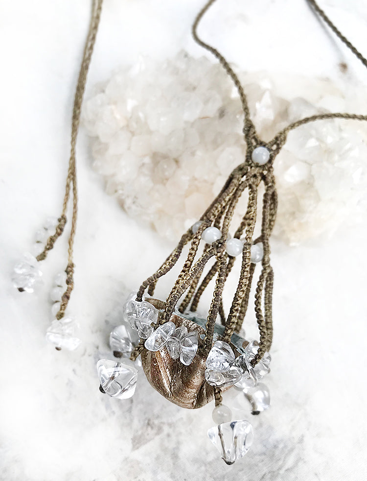 Crystal pod necklace