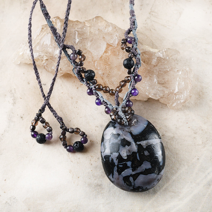 Crystal healing amulet with Mystic Merlinite