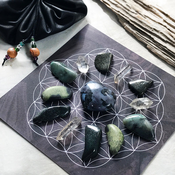 'Intuition & Trust' ~ crystal grid set