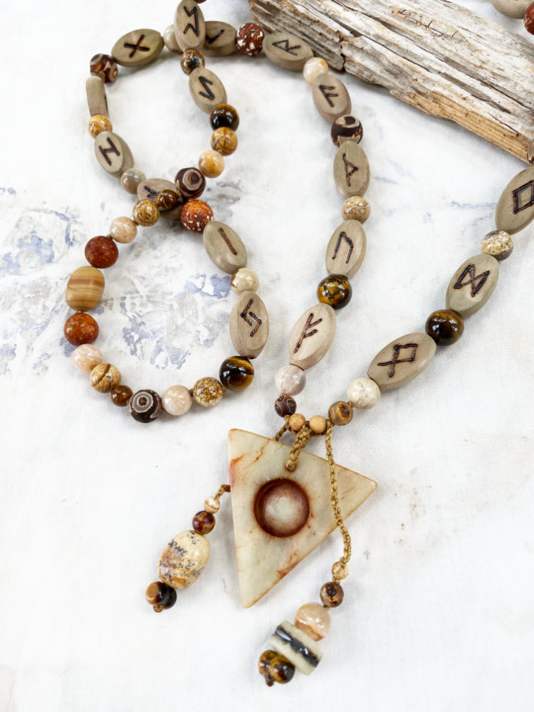 Crystals & Runes talisman necklace