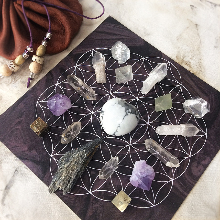 'Raising Vibration' ~ crystal grid set