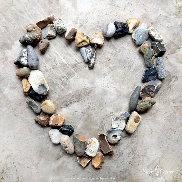 'Heart Portal' ~ natural Flint pebbles