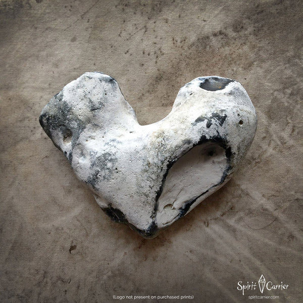 'Holding Your Heart' ~ natural Flint rock